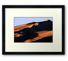 Dune Shadows Framed Print