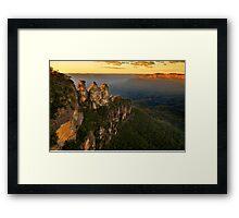 Sunrise in Blue Mountains Framed Print