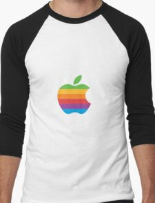 Rainbow Apple Logo Men's Baseball ¾ T-Shirt