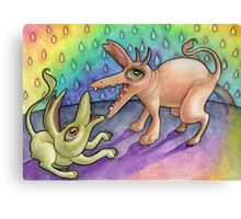 I can poop a rainbow! Canvas Print