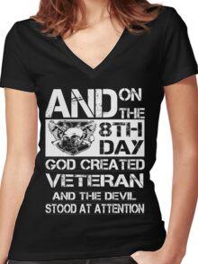 Veteran Women's Fitted V-Neck T-Shirt