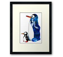 Two penguins Framed Print