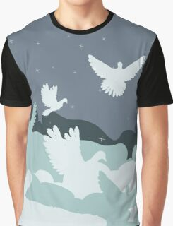 Pigeon in the Clouds Graphic T-Shirt