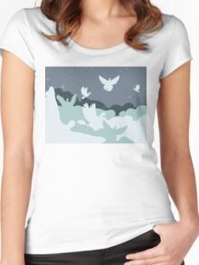 Pigeon in the Clouds Women's Fitted Scoop T-Shirt
