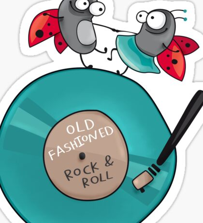Rock'n'roll ladybirds Sticker