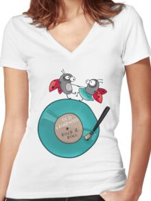 Rock'n'roll ladybirds Women's Fitted V-Neck T-Shirt