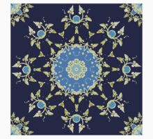 Golden and blue pattern One Piece - Short Sleeve
