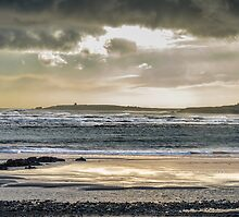 Storm Clouds and Sun Over The Sea, Bannow Bay, County Wexford, Ireland by Andrew Jones