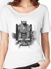 Vintage steam locomotive Women's Relaxed Fit T-Shirt