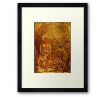 Burnished Tigers Framed Print