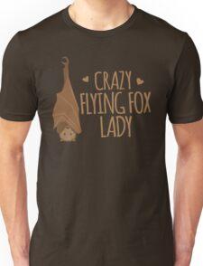 Crazy Flying fox lady Unisex T-Shirt