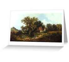 James Edwin Meadows - Rural Landscape . Greeting Card