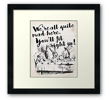 All Mad Framed Print