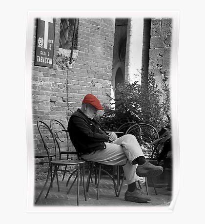 Siesta in Tuscany Poster