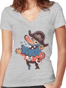 Cap'n Bluebeard Women's Fitted V-Neck T-Shirt