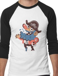 Cap'n Bluebeard Men's Baseball ¾ T-Shirt