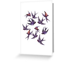 Winter swallows Greeting Card