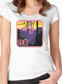 suburban sunset Women's Fitted Scoop T-Shirt