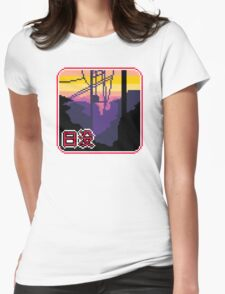 suburban sunset Womens Fitted T-Shirt