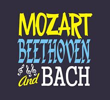 mozart, beethoven and bach Womens Fitted T-Shirt