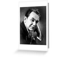 Edward G Robinson by John Springfield Greeting Card