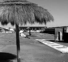 Ostia seafront: cabins beach and umbrella Sticker