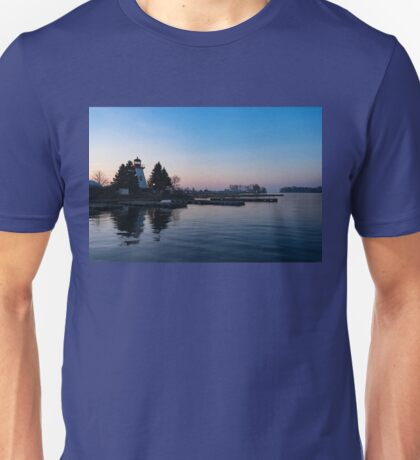 Waiting for Sunrise - Blue Hour at the Lighthouse, Infused with Soft Pink Unisex T-Shirt