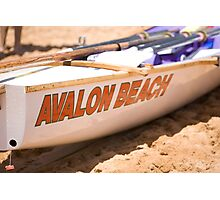 Traditional australian surf rescue boat on Avalon beach Photographic Print