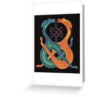 Entwined Celtic Knotwork Dogs Greeting Card