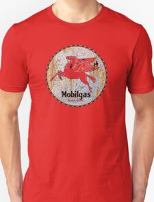 Vintage Mobil Gas and Oil sign rusty as heck T-Shirt