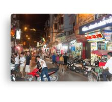 Hanoi Old Quarter Night Time Vietnam Canvas Print