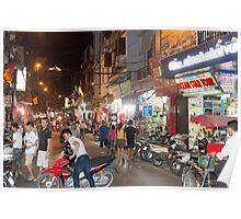 Hanoi Old Quarter Night Time Vietnam Poster