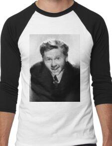 Mickey Rooney by John Springfield Men's Baseball ¾ T-Shirt
