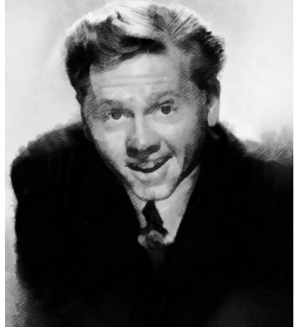 Mickey Rooney by John Springfield Sticker