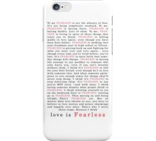 Taylor Swift Fearless iPhone Case/Skin