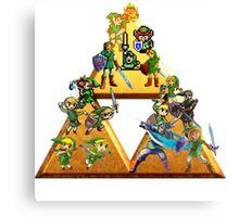 The Legend Of Zelda: Generations of Link Canvas Print