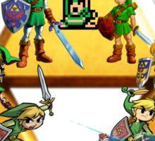 The Legend Of Zelda: Generations of Link Sticker