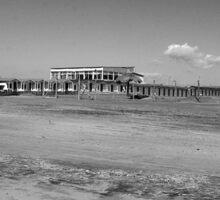 Ostia seafront: beach cabins Sticker