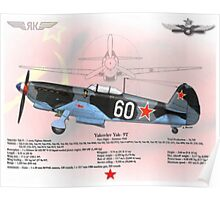 Yakovlev Yak-9T Poster