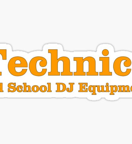 Technics Orange Sticker