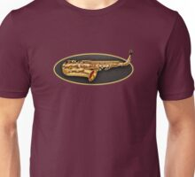 Saxophone Gold Oval Unisex T-Shirt