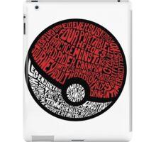 pokemon ball  iPad Case/Skin