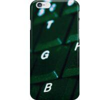 Computer Keyboard Green and black iPhone Case/Skin