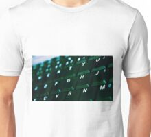 Computer Keyboard Green and black Unisex T-Shirt