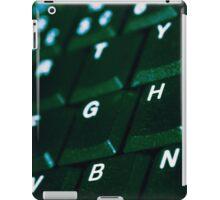 Computer Keyboard Green and black iPad Case/Skin