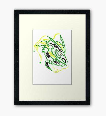 mega rayquaza - tribal Framed Print