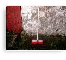 Red Sweeping Brush Canvas Print