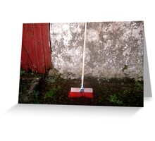 Red Sweeping Brush Greeting Card