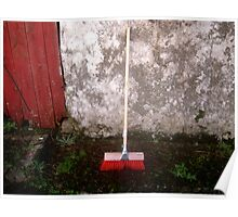 Red Sweeping Brush Poster