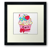 Cutie Cupcake Framed Print